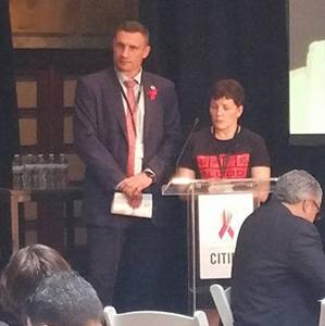 Сеть ЛЖВ и Виталий Кличко представили общую стратегию внедрения Fast Track Cities на встрече в Нью-Йорке