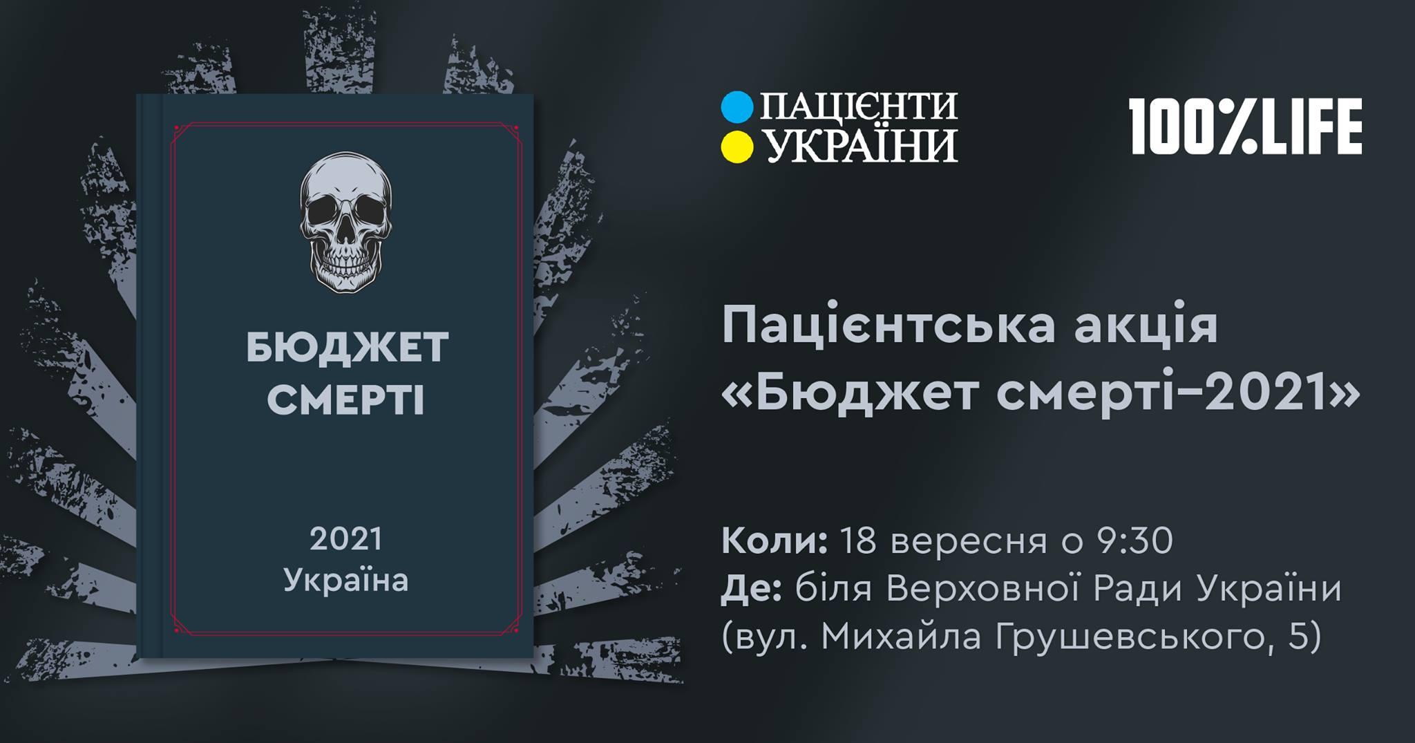 """АНОНС — Пацієнтська акція """"Бюджет смерті-2021"""""""